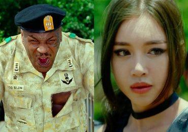 Elly Trần 'tái mặt' khi bị võ sĩ quyền Anh Mike Tyson hù dọa trong phim mới