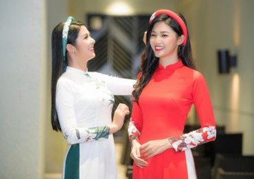 Á hậu Thanh Tú khoe nhan sắc cùng Hoa hậu Ngọc Hân