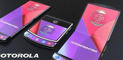 Concept điện thoại 'dao cạo' Motorola Razr sau khi hồi sinh