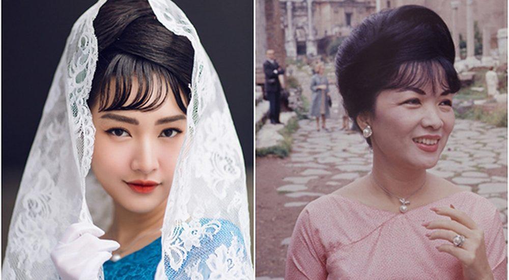 'Nàng thơ xứ Huế' Ngọc Trân hóa Madam Nhu, diện áo dài lụa mỏng giữa tuyết xứ Hàn