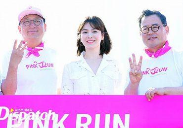 Song Hye Kyo khoe da trắng và chân thon dưới nắng xuân