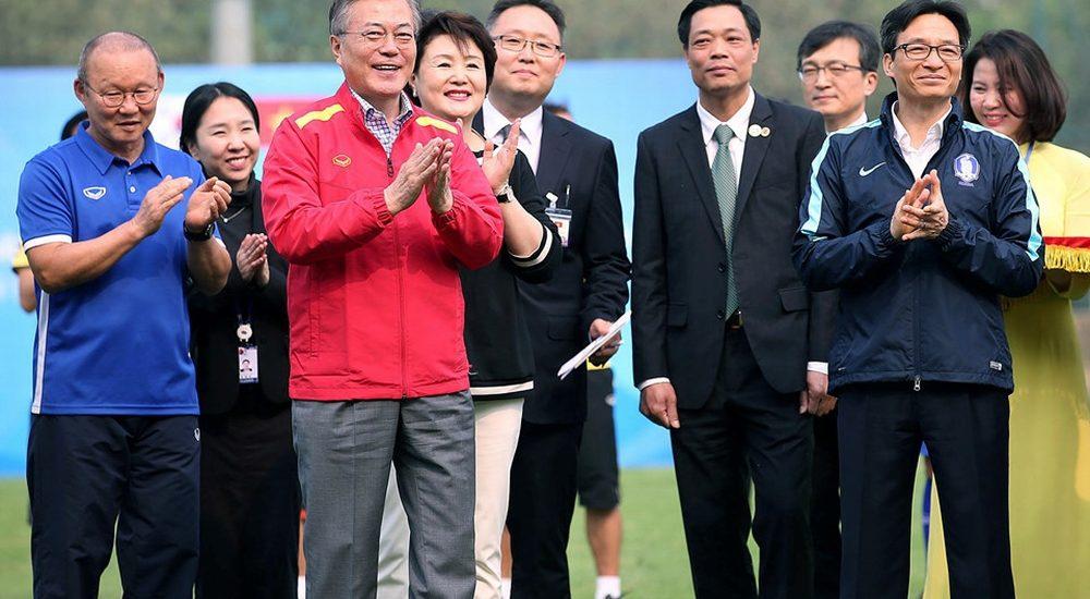 Tổng thống Hàn Quốc: 'Nếu không bão tuyết, U23 Việt Nam đã vô địch'