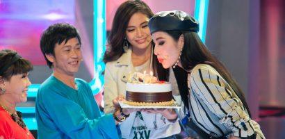 Á hậu Hoàng Thùy bất ngờ nhận khi nhận được quà sinh nhật sớm