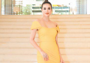 Hoa hậu Phạm Hương diện váy vàng rực kiêu sa, nổi bật tại sự kiện