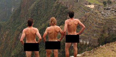 Ba du khách bị đuổi vì chụp ảnh khỏa thân ở Machu Picchu