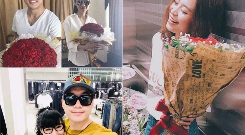 Trương Nam Thành khoe bạn gái, Ưng Hoàng Phúc tặng hoa cho vợ trong ngày 8/3
