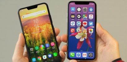 Smartphone Android nhái iPhone X: Nửa vời, non tay