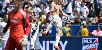 Ibrahimovic ghi bàn từ khoảng cách 36 mét trong trận ra mắt tại MLS