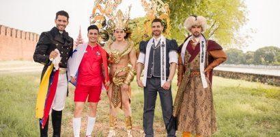 Minh Trung 'đọ' trang phục dân tộc với thí sinh Mister International 2018
