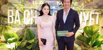 Dương Cẩm Lynh diện đầm gợi cảm đến chúc mừng phim mới của Lý Hải