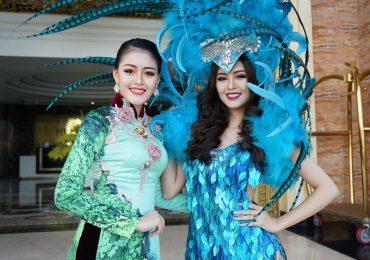 Hoa khôi Hải Yến và Á hậu Thanh Ngân 'đốn tim' du khách Quảng Bình