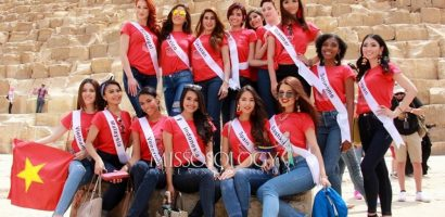 Thư Dung cùng dàn thí sinh thăm Kim Tự Tháp – Ai Cập