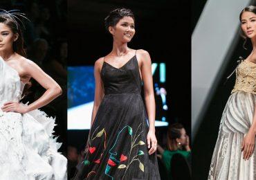 H'hen Niê, Hoàng Thùy và Mâu Thủy cùng giữ vai trò vedett trên sàn thời trang
