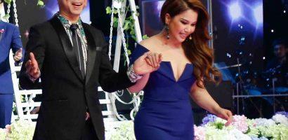Minh Tuyết và Ngọc Sơn phấn khích khiêu vũ trên sân khấu
