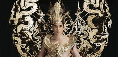 Minh Trung mang trang phục nặng 40kg dát vàng dự thi Mister International 2018