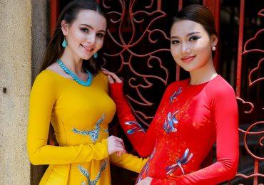 Hoàng Thu Thảo 'đọ dáng' cùng Hoa hậu Nga – Aibedullina Talliya