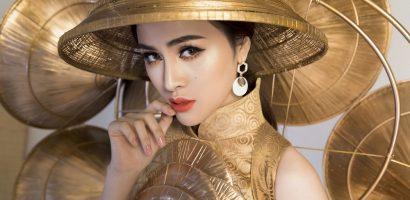 Ngắm trang phục 'Nghiêng che hồn Việt' của Thư Dung tại Miss Eco International 2018