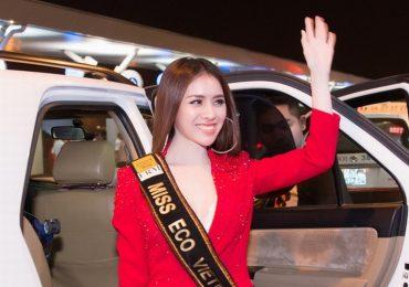 Vừa được cấp phép, Thư Dung chính thức lên đường thi 'Miss Eco International 2018'