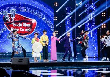 Huỳnh Lập, Ngô Kiến Huy, Dương Triệu Vũ 'vật vã' múa đèn trên sân khấu