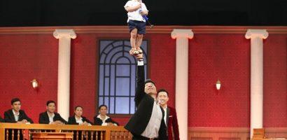Diễn xiếc với con trai 16 tháng tuổi, Quốc Nghiệp thắng ở gameshow