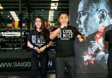 Cung Lê và Trương Ngọc Ánh diện đồ đôi, giới thiệu phim điện ảnh mới