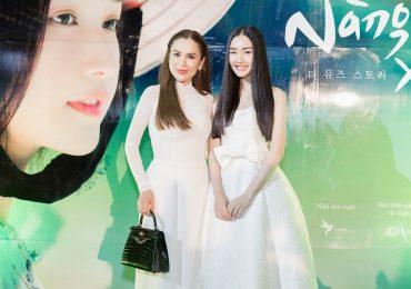 Hoa hậu Phương Lê mặc áo dài trắng trẻ như nữ sinh khi về quê chồng