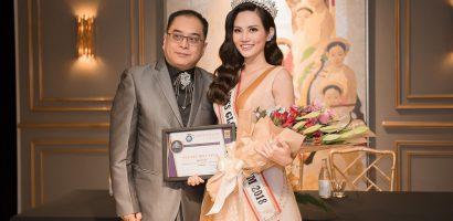 Nguyễn Diệu Linh chính thức được trao vương miện 'Hoa hậu Du lịch Toàn cầu 2018'