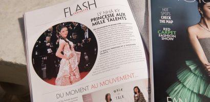 Lý Nhã Kỳ xuất hiện tự tin trong talk-show của tạp chí nối tiếng ở Pháp