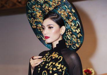 Trương Thị May diễn vedette tại show thời trang áo dài truyền thống
