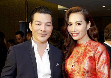 Á hậu Thúy Anh sánh đôi cùng nam diễn viên Trần Bảo Sơn tại sự kiện