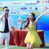 'Sao Mai' Diệu Ly và ca sĩ Việt Sơn cháy hết mình trên sân cỏ Press Cup 2018