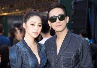 Jolie Nguyễn diện đồ đôi cùng Hứa Vĩ Văn dự sự kiện