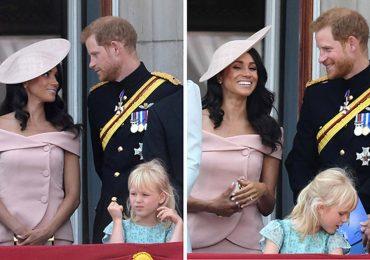 Harry – Meghan nhìn nhau đắm đuối trên ban công Điện Buckingham