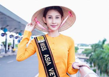 Chi Nguyễn mặc áo bà ba, một mình lên đường tham gia tranh tài 'Miss Asia World 2018'