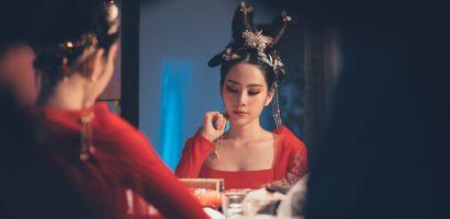 Nam Em tạo hình Võ Tắc Thiên trong MV cổ trang