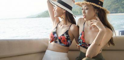 Cao Thiên Trang và Kikki Lê diện bikini khoe thân hình gợi cảm trên bãi biển