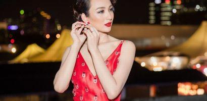 Hoa hậu Ngọc Diễm liên tục thay váy dạ hội sang trọng trong cùng sự kiện
