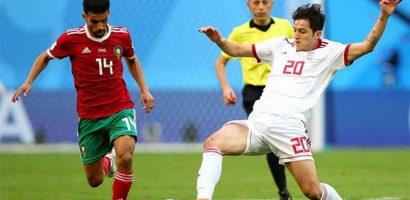 Iran hạ Morocco nhờ bàn phản lưới phút bù giờ ở World Cup 2018