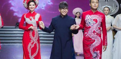 Vợ chồng Thanh Duy – Kha Ly rạng rỡ trong áo dài cưới của NTK Minh Châu