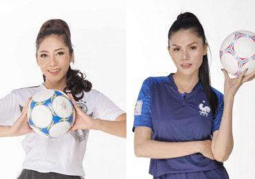 Hoa hậu Đặng Thu Thảo và Á hậu Kim Nguyên hào hứng đón World Cup 2018
