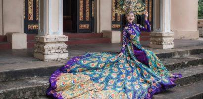 Người đẹp Chi Nguyễn mặc Quốc phục 20 kg tranh tài tại 'Miss Asia World 2018'