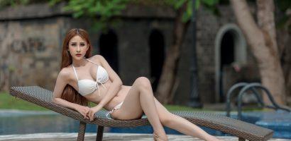 Chi Nguyễn 'đốt mắt' với bộ ảnh bikini nóng bỏng tại 'Miss Asia World 2018'