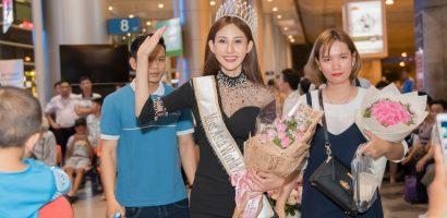 'Hoa hậu Châu Á Thế giới 2018' – Chi Nguyễn rạng ngời ngày về nước