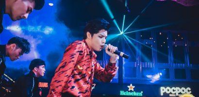 Noo Phước Thịnh ướt đẫm mồ hôi khi hát live liên tục 5 ca khúc