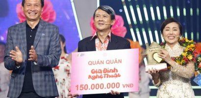 Nghệ sĩ Bảo Trí và Kim Tuyết trở thành Quán quân 'Gia đình nghệ thuật'