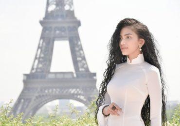 Á hậu Trương Thị May muốn mang áo dài Việt đi khắp thế giới