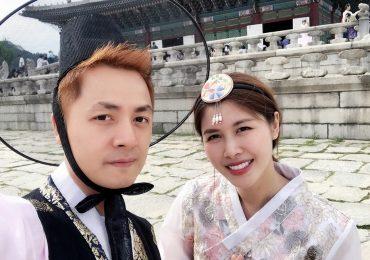 Vợ chồng Đăng Khôi – Thuỷ Anh diện Hanbok đẹp như người bản xứ