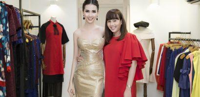 Hoa hậu Hằng Nguyễn tự tay thiết kế trang phục đi thi cho Phan Thị Mơ