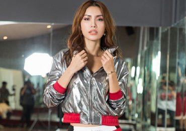 Người mẫu Minh Tú khoẻ khoắn trong trang phục thể thao