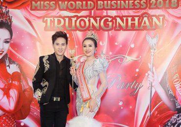 Hoa hậu Trương Nhân hạnh phúc bên Nguyên Vũ trong tiệc mừng chiến thắng